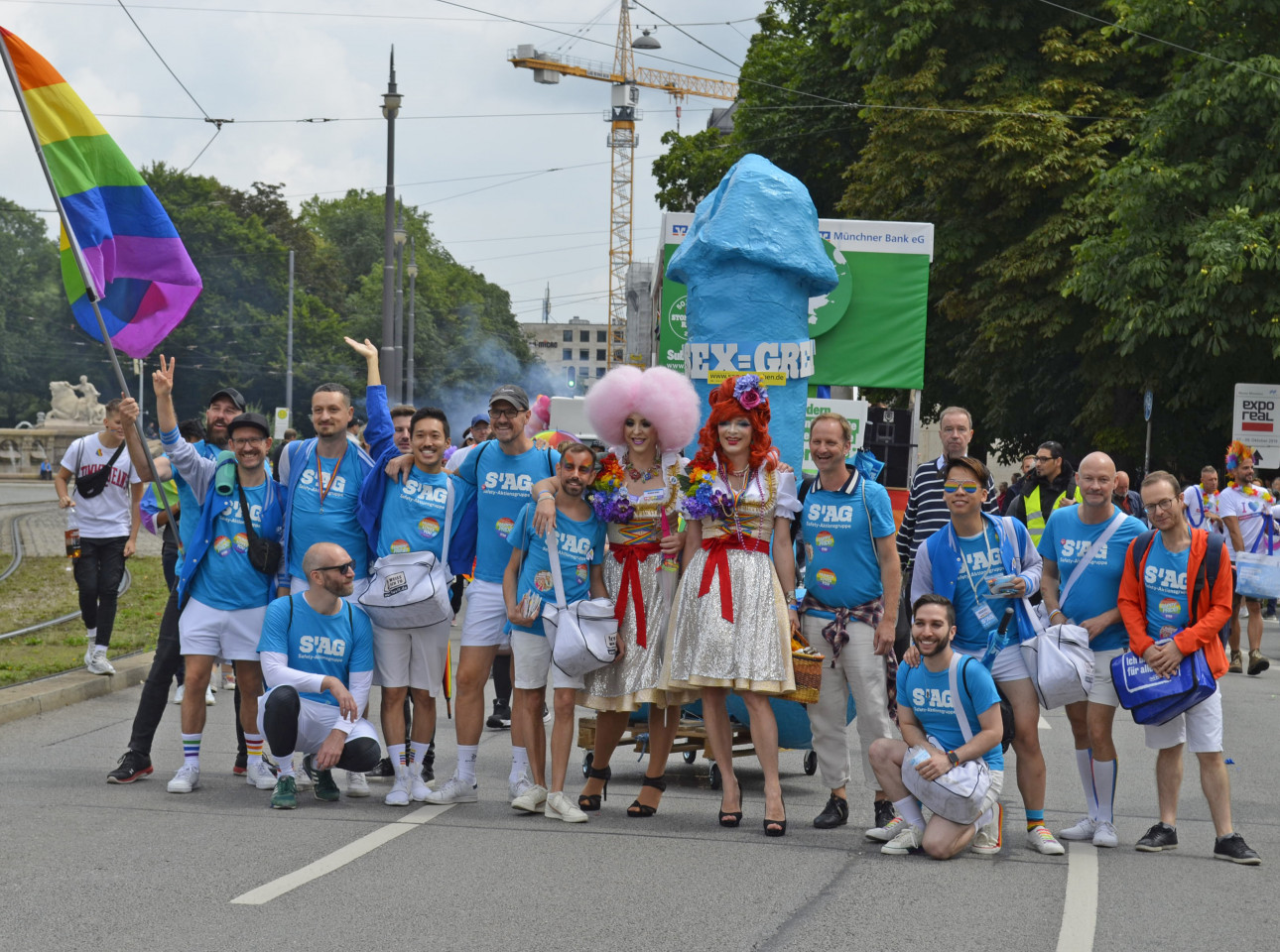 Muenchner Aidshilfe CSD2019 Parade SAG 03